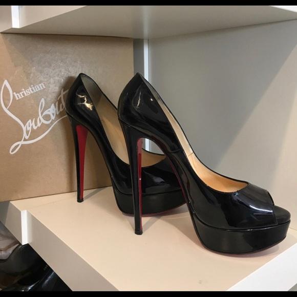 ecf7ee2b332b Christian Louboutin Shoes - Christian Louboutin Lady peep 150 patent calf  Blk